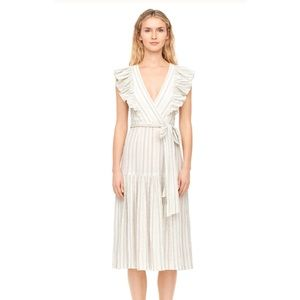 Rebecca Taylor Midi Stripe Dress